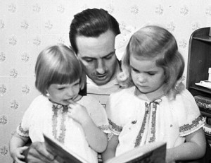 Walt Disney and Daughters